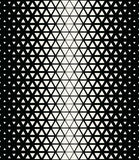 Abstract geometric black and white graphic design print halftone triangle pattern Royalty Free Stock Images