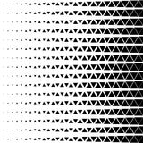 Abstract geometric black and white graphic design print halftone triangle pattern. Vector illustration stock illustration