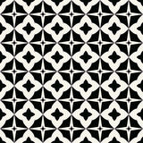 Abstract geometric black and white graphic design print stars pattern Stock Image