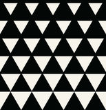 Abstract geometric black and white graphic design print triangle halftone pattern Stock Photo