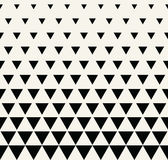 Abstract geometric black and white graphic design print triangle halftone pattern Stock Images