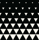 Abstract geometric black and white graphic design print triangle halftone pattern Royalty Free Stock Photography