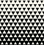 Abstract geometric black and white graphic design print triangle halftone pattern Royalty Free Stock Images