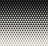 Abstract geometric black and white graphic design print triangle halftone pattern Royalty Free Stock Photos