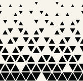 Abstract geometric black and white graphic design triangle halftone pattern Stock Photos