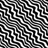 Abstract geometric black and white graphic design weave pattern Stock Photo