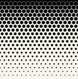 Abstract geometric black and white graphic halftone hexagon pattern background Royalty Free Stock Images