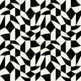 Abstract geometric black and white graphic tiles unique pattern background Royalty Free Stock Images