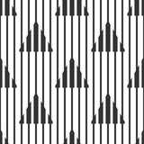 Abstract geometric black and white pattern, narrow and wide lines, triangles. Seamless background. Vector Royalty Free Stock Image