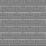 Abstract geometric black & white seamless pattern Stock Photo