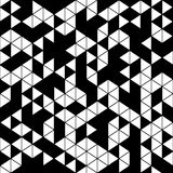 Abstract geometric black and white seamless pattern Stock Photo