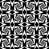Abstract Geometric black and white square background royalty free illustration