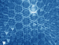 Abstract geometric Blue background Royalty Free Stock Photography