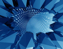 Abstract geometric Blue background. 3d concept Royalty Free Stock Photos