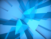Abstract geometric Blue background. 3d concept design Royalty Free Stock Image
