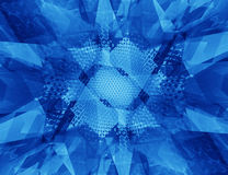 Abstract geometric Blue background. 3d render Stock Image