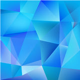 Abstract geometric blue background. Abstract geometric feceted modern 3d blue background Royalty Free Stock Photography