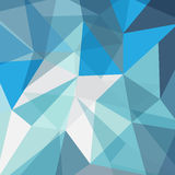 Abstract geometric blue background. Abstract geometric feceted modern 3d blue background Stock Photo