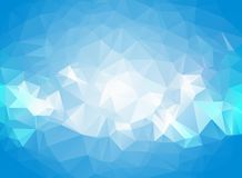 Abstract geometric blue background with triangular polygons, low poly style illustration.  vector illustration