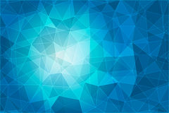 Abstract geometric blue background with triangular polygons Stock Image