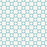 Abstract geometric blue circles grid pattern. Background Royalty Free Stock Image