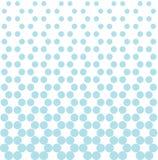 Abstract geometric blue deco art print halftone dots pattern Stock Photos