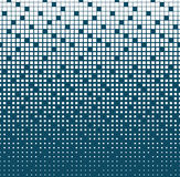 Abstract geometric blue gradient square halftone pattern Stock Images