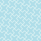 Abstract geometric blue graphic design print cross tile pattern Stock Photo