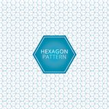 Abstract geometric blue, gray hexagon pattern overlap background. Technology elements. Vector illustration Stock Photography