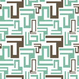 Abstract geometric blue and grey seamless pattern background illustration Stock Images