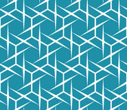 Abstract geometric blue hipster fashion pillow hexagon grid pattern Royalty Free Stock Image