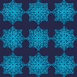 Abstract geometric blue pattern Stock Image