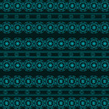 Abstract geometric blue seamless pattern on dark background Stock Images