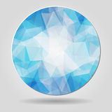Abstract geometric blue spherical shape from triangular faces fo Royalty Free Stock Image