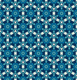 Abstract geometric blue star pattern. Mosaic background royalty free illustration