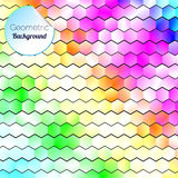 Abstract Geometric Bright Background. Web Design Vector Royalty Free Stock Photo
