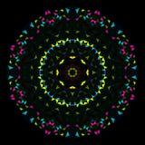 Abstract Geometric Bright Kaleidoscope Pattern. Circle Symmetric Design Stock Photos