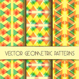 Abstract geometric bright patterns collection Stock Photos