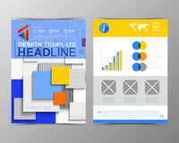 Abstract geometric brochure template. Map.Flayer Layout. Flat St Royalty Free Stock Images