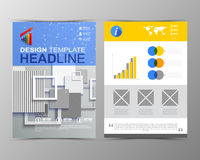 Abstract geometric brochure template. Map.Flayer Layout. Flat St Royalty Free Stock Photo