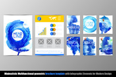 Abstract geometric brochure template. Map. Stock Image