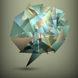 Abstract geometric bubble Royalty Free Stock Photography