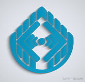 Abstract geometric business sign. Royalty Free Stock Photography