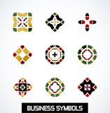 Abstract geometric business symbols. Icon set Royalty Free Stock Photos