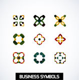 Abstract geometric business symbols. Icon set Stock Photo