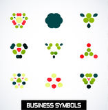 Abstract geometric business symbols. Icon set Royalty Free Stock Image