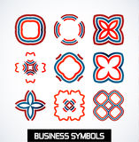 Abstract geometric business symbols. Icon set Stock Photography