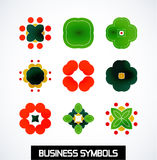 Abstract geometric business symbols. Icon set Royalty Free Stock Photo