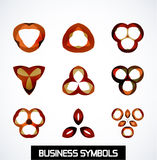 Abstract geometric business symbols. Icon set Stock Images