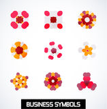 Abstract geometric business symbols. Icon set Royalty Free Stock Photography
